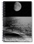 Black Night At The Shore Spiral Notebook