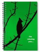 Black  On Green Spiral Notebook