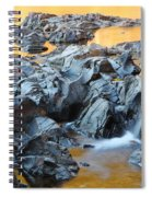 Black River Reflections At Johnsons Shut Ins State Park Vi Spiral Notebook