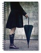 Black Umbrellla Spiral Notebook