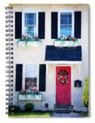 Black Window Shutters With Flowers Spiral Notebook