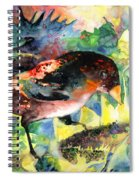 Blackbird With Sunflower Spiral Notebook