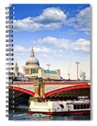 Blackfriars Bridge And St. Paul's Cathedral In London Spiral Notebook