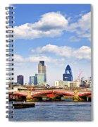 Blackfriars Bridge With London Skyline Spiral Notebook