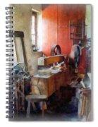 Blacksmith Shop Near Windows Spiral Notebook