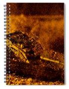 Blast On The Desert Spiral Notebook