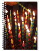 Blazing Amazing Birthday Candles Spiral Notebook