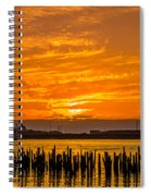 Blazing Humboldt Bay Sunset Spiral Notebook