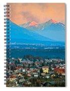 Bled City And Breg. Slovenia Spiral Notebook