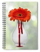 Bleeding Gerbera Spiral Notebook