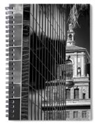 Blending Architecture Black And White Spiral Notebook