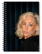 Blond Woman Sad Spiral Notebook
