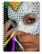 Blond Woman With Mask Spiral Notebook
