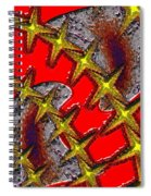 Blood On The Wire Spiral Notebook