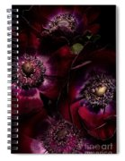 Blood Red Anemones Spiral Notebook