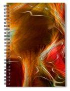 Blood Work Triptych Panel 3 Spiral Notebook