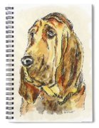 Bloodhound-watercolor Spiral Notebook