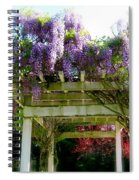 Blooming Wisteria  Spiral Notebook