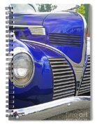 Blue And Chrome Nose Spiral Notebook