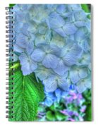 Blue And Green Flora Spiral Notebook