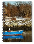 Blue And Red Boat Spiral Notebook