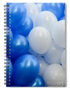 Blue And White Balloons  Spiral Notebook