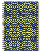 Blue And Yellow Chevron Pattern Spiral Notebook