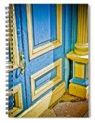 Blue And Yellow Door Spiral Notebook