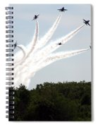 Blue Angels Star Burst Spiral Notebook