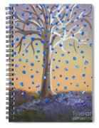Blue-blossomed Wishing Tree Spiral Notebook