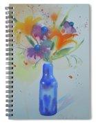 Blue Bottle Bouquet Spiral Notebook
