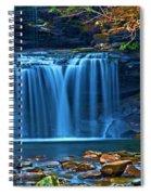 Blue Cascades Spiral Notebook