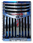 Blue Chevy Pick-up Grill Spiral Notebook