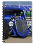 Blue Coupe Spiral Notebook
