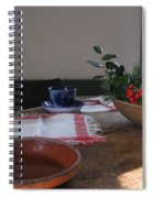 Blue Cup At Christmas  Spiral Notebook