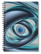 Blue Eyes Of A Machine Spiral Notebook