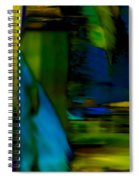 Blue Feather Reflections Spiral Notebook