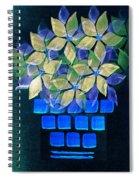Blue Flower Pot Spiral Notebook