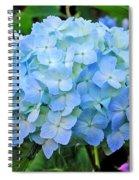 Blue Garden Flower Spiral Notebook