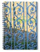 Blue Gate Swirls Spiral Notebook