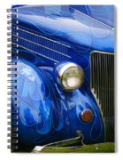 Blue Ghost Flames Spiral Notebook