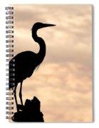 Blue Heron Silhouette Spiral Notebook