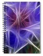 Blue Hibiscus Fractal Panel 2 Spiral Notebook