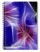 Blue Hibiscus Fractal Panel 4 Spiral Notebook