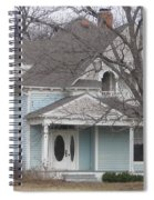 Blue House Spiral Notebook