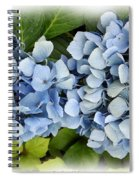 Blue Hydrangeas With Watercolor Effect Spiral Notebook