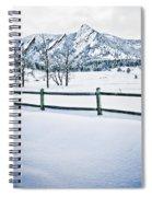 Blue Ice 4 Spiral Notebook