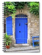 Blue In Provence France Spiral Notebook