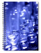Blue Led Lights Pointing Upwards Spiral Notebook