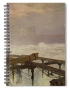 Blue Lights - Teignemouth Pier Spiral Notebook